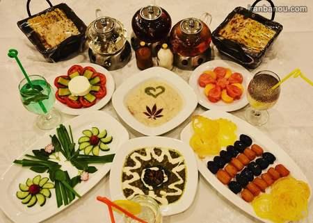 تزیین سفره افطار برای مهمانی