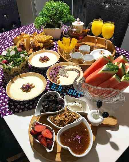 تزیین سفره افطار برای مهمان