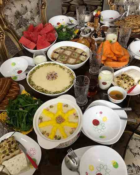 تزیین سفره افطار مجلسی