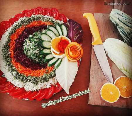 iranbanou1905183 5 - 100 مدل تزیین غذاهای ایرانی و سالاد و دسر