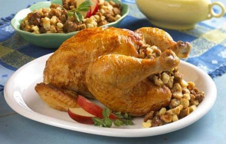 تزیینات مرغ شکم پر, تصاویر تزیین مرغ شکم پر