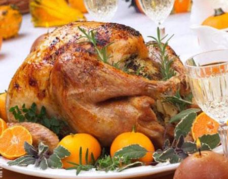 مدل تزیین مرغ شکم پر,تزیین ظرف مرغ درسته