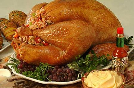 تزیین مرغ درسته, مدل تزیین مرغ شکم پر