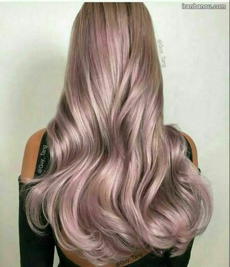 آموزش رنگ مو صدفی