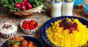 تزيين غذاي ايراني جديد