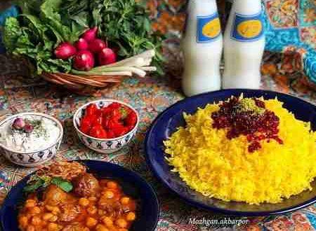ایده های تزیین میز شام ایرانی | تزیین مجلسی پلو