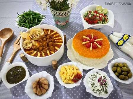 iranbanou19062414 2 - 100 مدل تزیین غذاهای ایرانی و سالاد و دسر