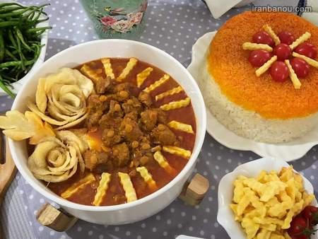 iranbanou19062415 2 - 100 مدل تزیین غذاهای ایرانی و سالاد و دسر