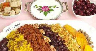 تزيين سفره شام ايراني