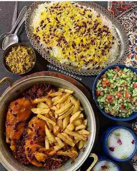 iranbanou19062429 - 100 مدل تزیین غذاهای ایرانی و سالاد و دسر