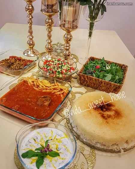 iranbanou19062430 - 100 مدل تزیین غذاهای ایرانی و سالاد و دسر