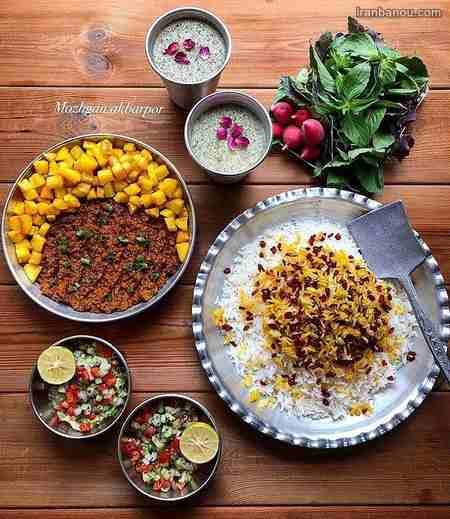 تزیین غذا و سالاد