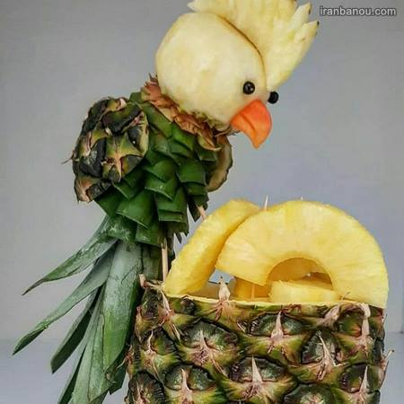میوه آرایی با موز