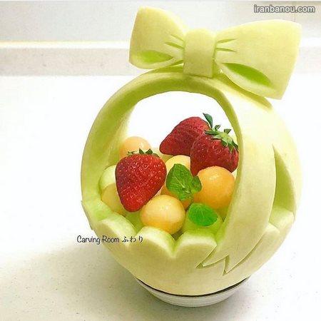 میوه آرایی با گوجه