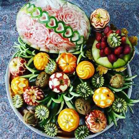 تزیین میوه شب یلدا برای مدرسه