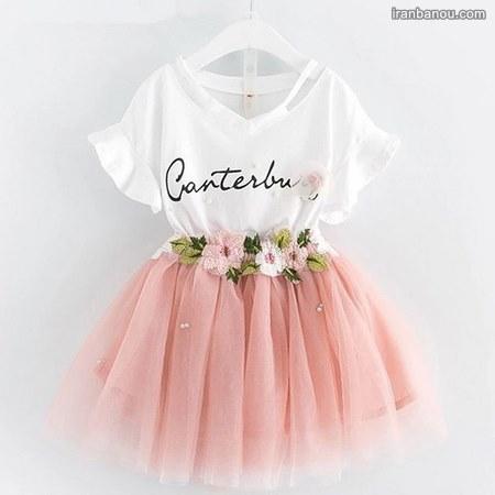 لباس دخترانه بچه گانه با الگو
