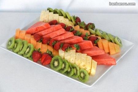 تزیین میوه با خلال دندان