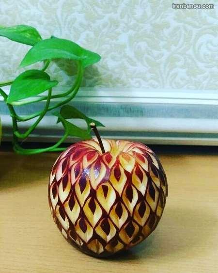 آموزش میوه آرایی هندوانه ساده