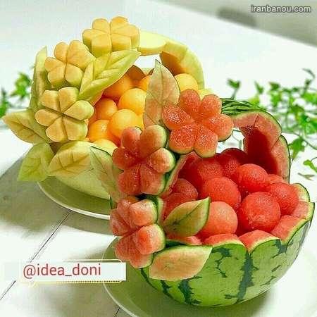 تزیین میوه تولد روی میز