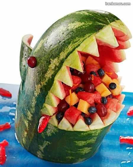 میوه آرایی هندوانه ساده