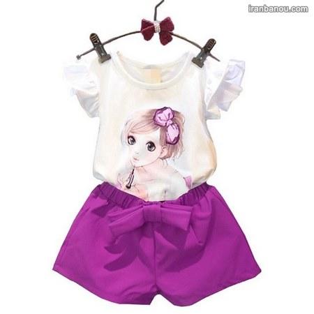 لباس دخترانه بچه گانه تابستانی