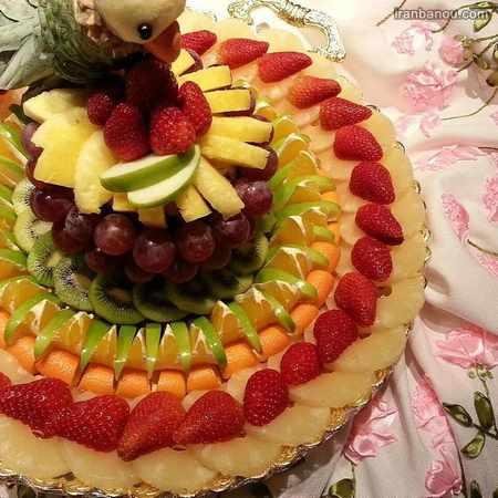سیخ میوه پاییزی
