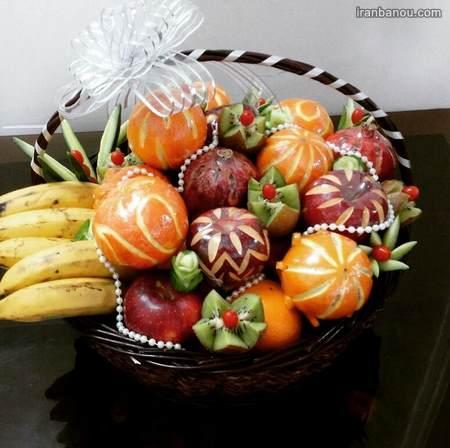 میوه آرایی با سیخ چوبی