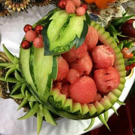 میوه آرایی با خیار