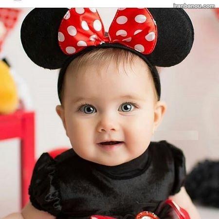 دختر بچه خوشگل چشم مشکی