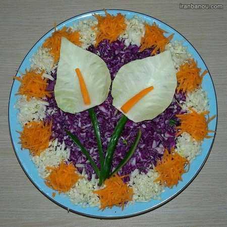 انواع تزیین غذای ایرانی