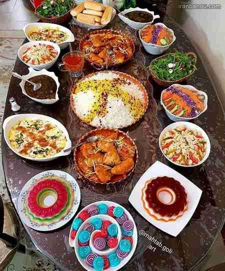 میز دسر برای مهمانی