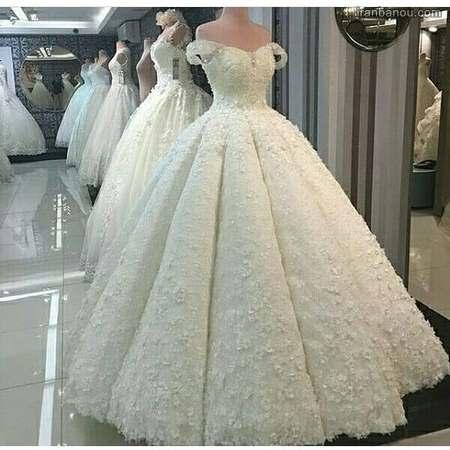 عکس لباس عروس پرنسسی پفی