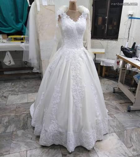 لباس عروس پفی دخترانه