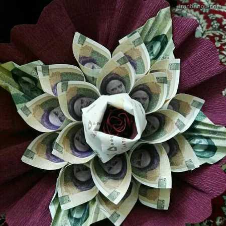 تزیین پول به شکل قلب