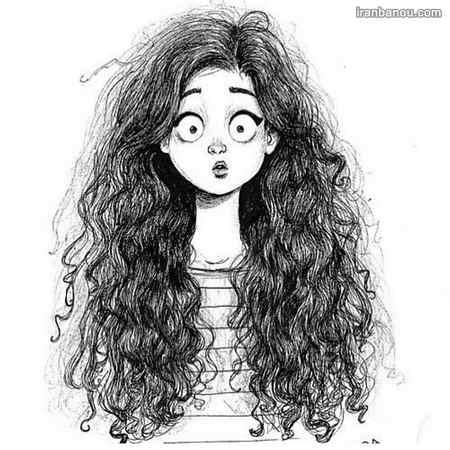 عکس دختر از پشت سر با موهای باز
