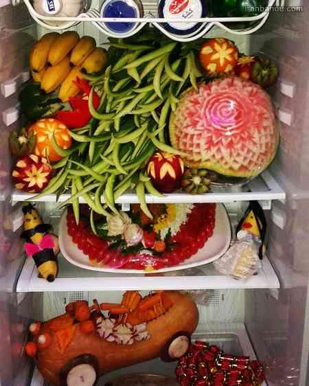 تزیین یخچال عروس ساده و شیک