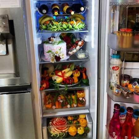 تزیین یخچال عروس اینستاگرام