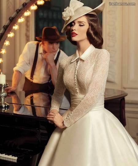 عکس عروس| عکس عروس و داماد در باغ