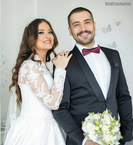 عکس شاسی عروس و داماد