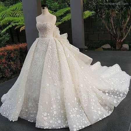 انواع مدل لباس عروس پرنسسی
