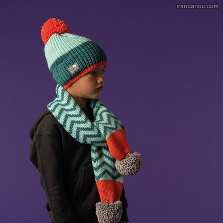 جدیدترین مدل شال و کلاه بافتنی بچه گانه پسرانه