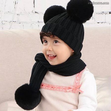 کلاه و شال گردن بچه گانه دخترانه