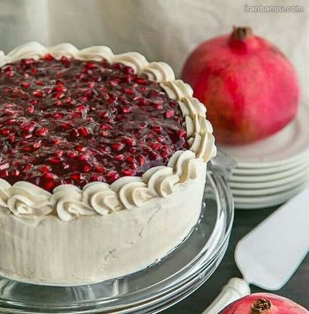 طرز تهیه کیک شب یلدا در خانه