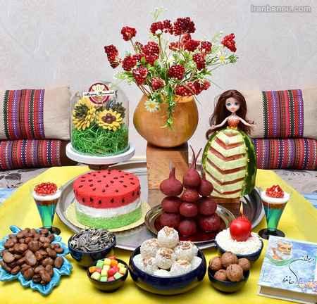 تزیین سبد میوه شب یلدا برای عروس