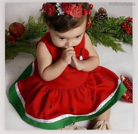 لباس شب یلدا هندوانه