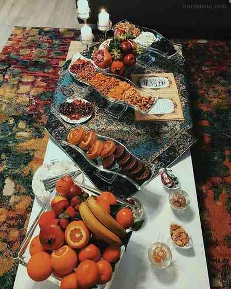 تزیین هدایای شب یلدا برای عروس