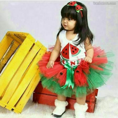 لباس بافتنی شب یلدا برای کودکان
