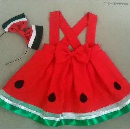 لباس هندوانه ای شب یلدا