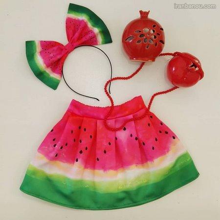 مدل لباس هندوانه ای