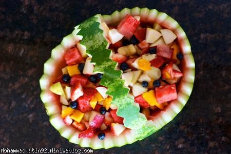 طرز درست کردن هندوانه به شکل سبد